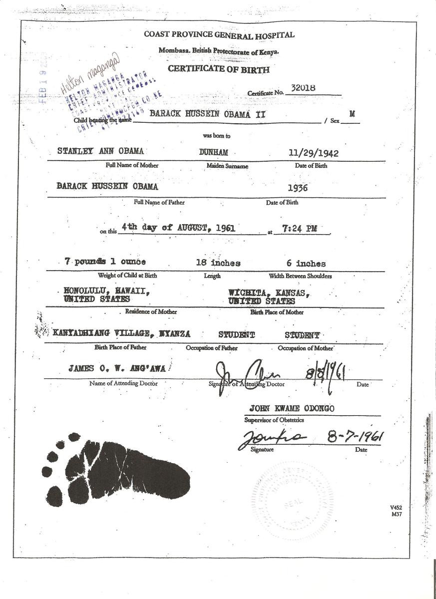 The obama birth certificate covert geopolitics xflitez Gallery