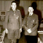 Adolf Hitler with personal guard and special agent Otto Skorzeny