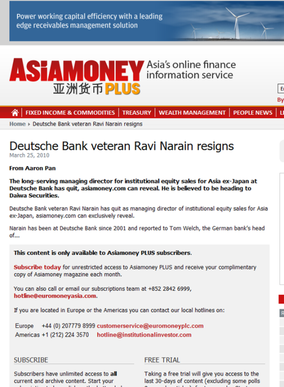 http://www.asiamoney.com/Article/2452336/Deutsche-Bank-veteran-Ravi-Narain-resigns.html
