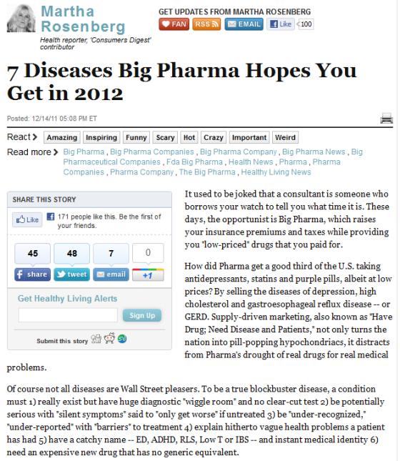 7 diseases big pharma likes