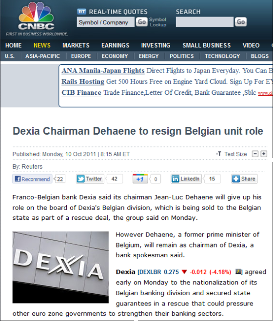 http://www.cnbc.com/id/44840195/Dexia_Chairman_Dehaene_to_resign_Belgian_unit_role