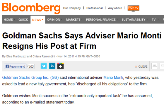 http://www.bloomberg.com/news/2011-11-14/goldman-sachs-says-adviser-mario-monti-resigns-his-post-at-firm.html