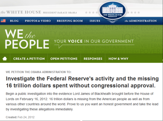 https://wwws.whitehouse.gov/petitions/!/petition/investigate-federal-reserves-activity-and-missing-16-trillion-dollars-spent-without-congressional/SH7CmD1P?utm_source=wh.gov&utm_medium=shorturl&utm_campaign=shorturl
