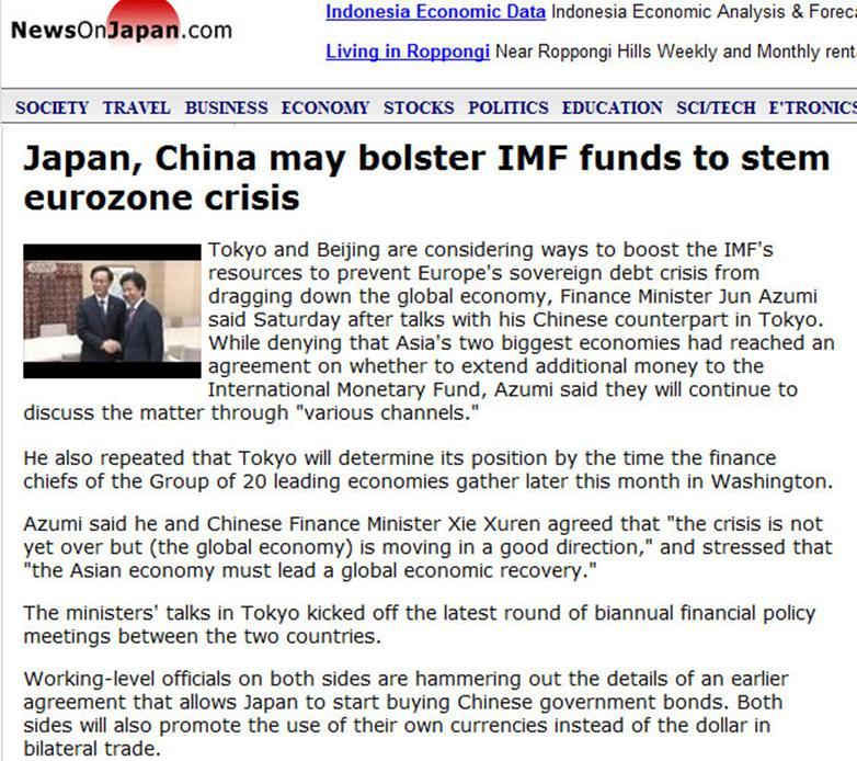 Japan China May Help Imf Junk Dollar For Bilateral Trade Covert