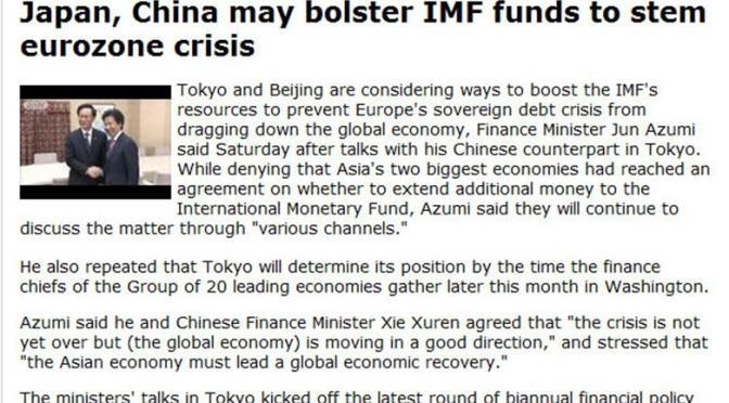 Japan & China May Help IMF, Junk Dollar for Bilateral Trade