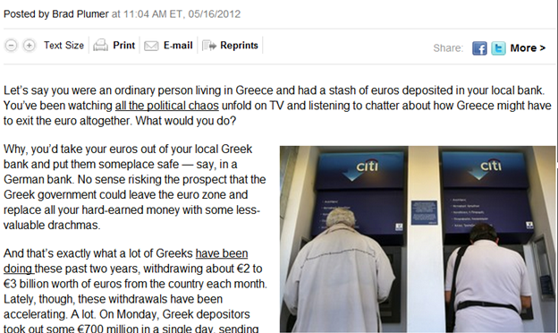 Pulling Out Of Greece