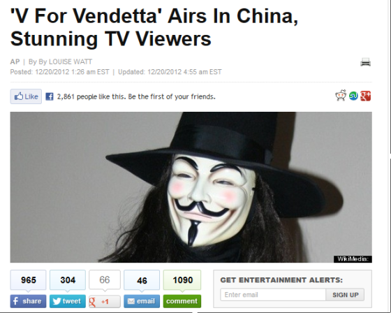Soon The Internet Was Crackling With Quotes Of V For Vendettas Famous Line People Should Not Be Afraid