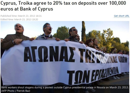 cyprus troika agrees on 20 percent tax on deposits