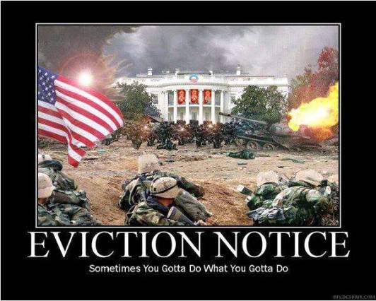 white house eviction notice