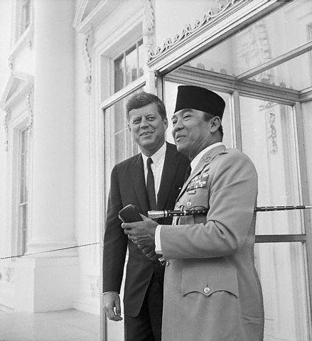 President Kennedy Greets President Sukarno