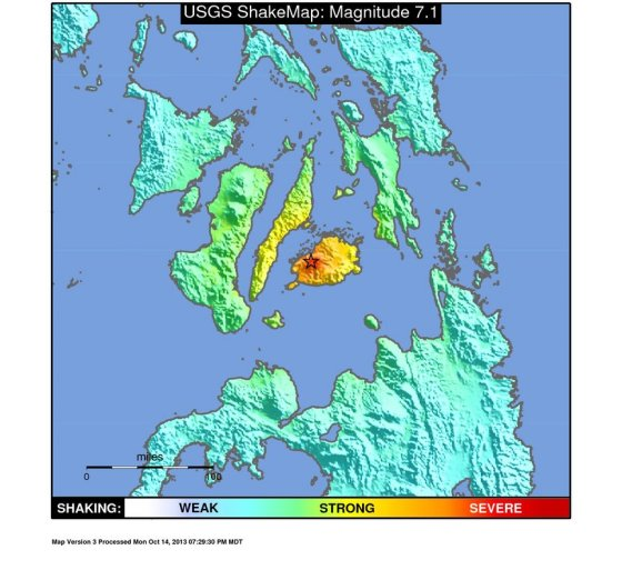 7.2 quake area map