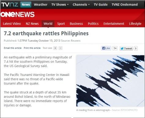 7.2 quake hits phil
