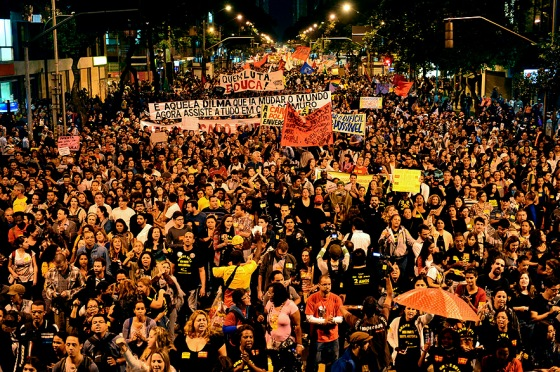 BRAZIL-EDUCATION-TEACHERS-PROTEST
