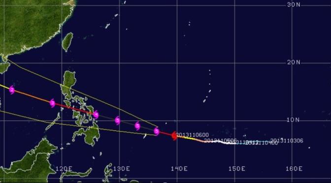 CAT 5 TYPHOON EN ROUTE TO PHILIPPINES