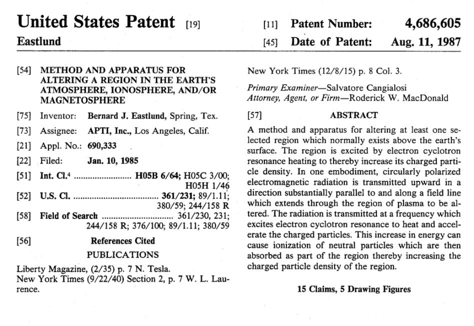 us patent 4,686,605