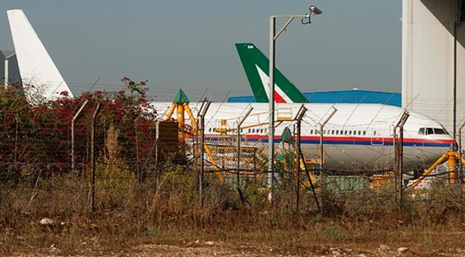 Cloned Malaysian Boeing 777 in Tel Aviv
