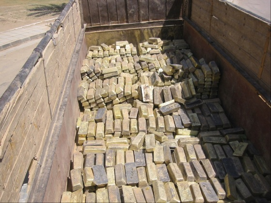 iraq gold bricks
