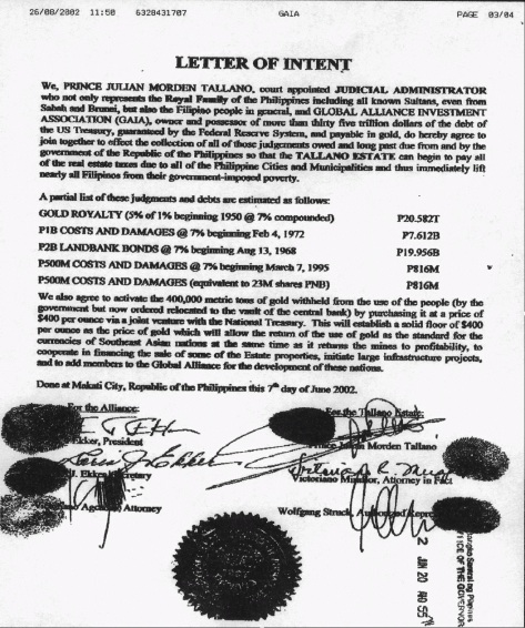 letter of intent - tallano