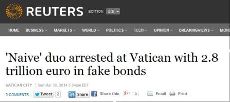 reuters men with fake 4.1 trillion bonds caught