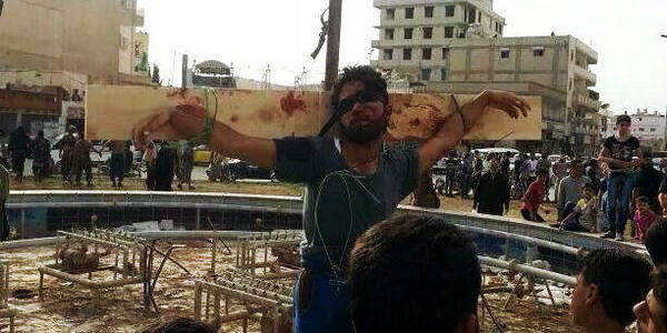 Syrian Extremists Twitting on Crucifixions