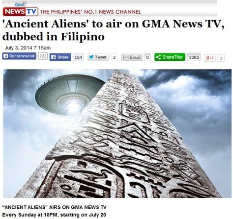 ET Disclosure Hits Philippines Ancient-alien-gma-7