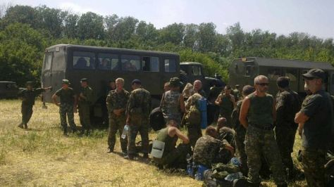 ARCHIVE PHOTO: Ukrainian soldiers in a tent camp in Rostov Region on 4 August, 2014. (RIA Novosti / Julia Nasulina)
