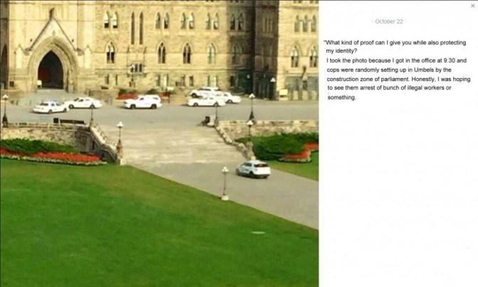Photos Taken 15 mins. Prior to Ottawa Shooting