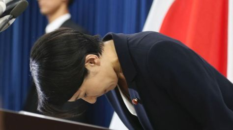 Japan's Unprecedented Resignations Amid Political Scandals Japan-trade-minister-resigns-3