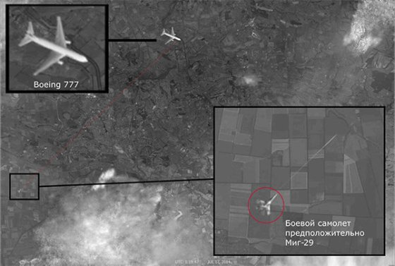 satellite image of mh-17 shooting