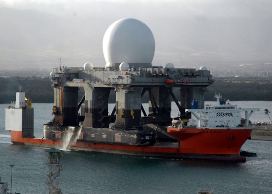The Sea-Based X-Band Radar (SBX-1) is a floating, self-propelled, mobile active electronically scanned array radar station designed to operate in high winds and heavy seas. It is part of the U.S. Defense Department Ballistic Missile Defense System.