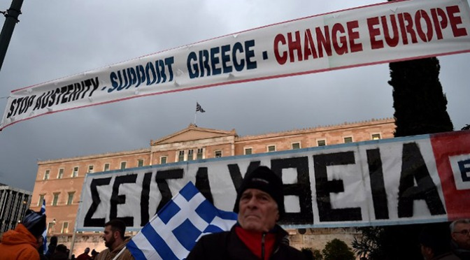 Greek Anti-Austerity Protests Spreading Beyond Eurozone