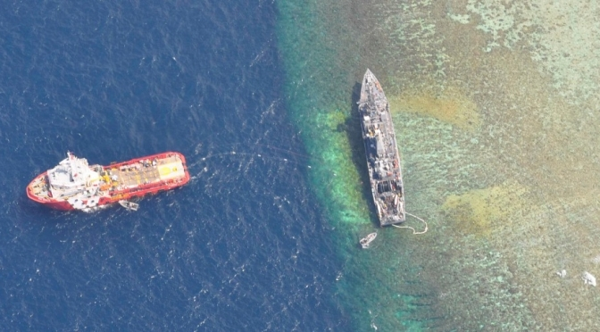 The USS Guardian ran aground within the World Heritage-listed Tubbataha coral reef, after its crew failed to heed the multiple radio and visual warnings from Philippine authorities.