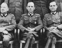 Nazi officers wearing the Maltese Cross.