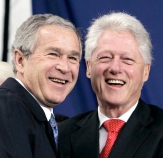 Former US President George W. Bush says ex-President William J. Clinton never criticized him as both leaders