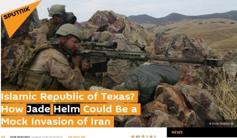 mock iran invasion