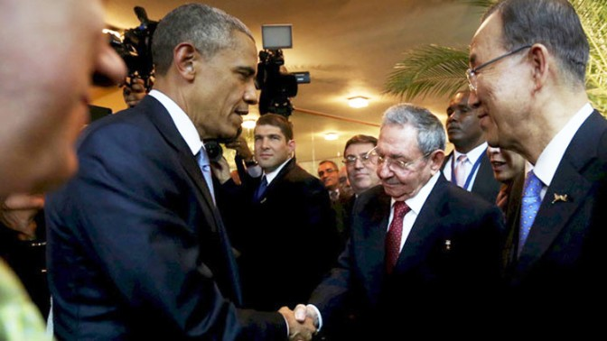 Obama-Castro Historic HandShake