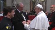 Papa Francesco con il Gran Maestro dello SMOM Fra' Matthew Festing