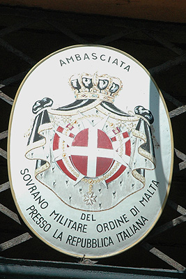 The embassy of the Sovereign Military Order of Malta (SMOM) in Italy.
