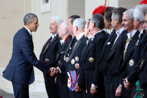 This is Obama paying homage to the real power behind the US presidency.