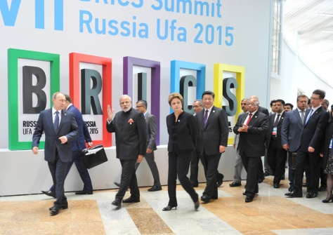 The Prime Minister, Shri Narendra Modi at the Welcome Ceremony during the BRICS Summit, in Ufa, Russia on July 09, 2015.
