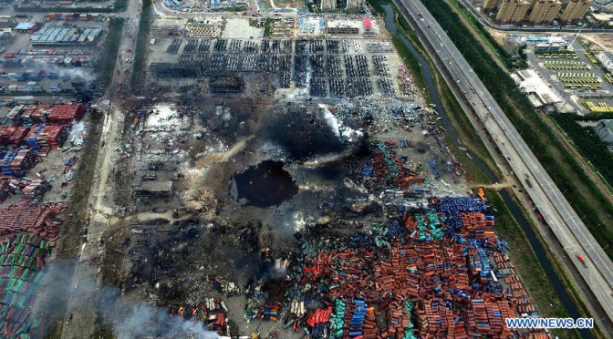 UPDATE Tianjin China Explosion Blast-area