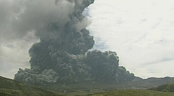 Japan's Largest Volcano Erupts After Ruble-Yen Swap Announcement
