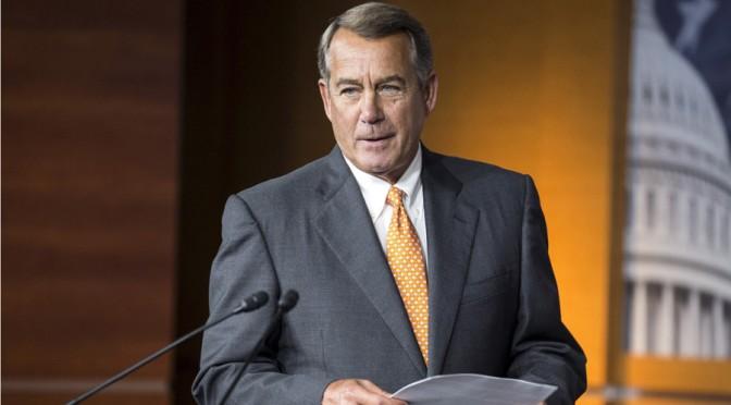 US House Speaker Boehner Resigning After Papal Socialist Speech