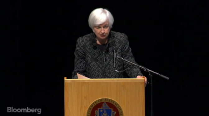 Yellen's Dehydrated Speech for A Dehydrated Economy