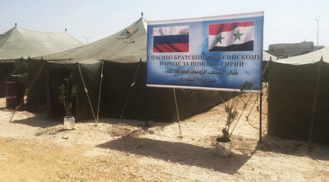 Russia Builds Secure Refugee Camps While US Airdrops Arms to ISIS