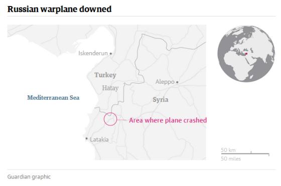 russian plane crash map