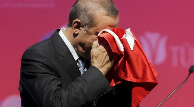 "Dictator Erdogan Cries ""Stab in the Back""; Exposes Angela Hitler"