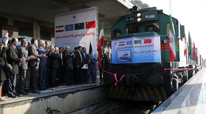 1st Silk Road Train Arrives in Iran, West Sociopaths Trashing $100 & €500 Bills Out