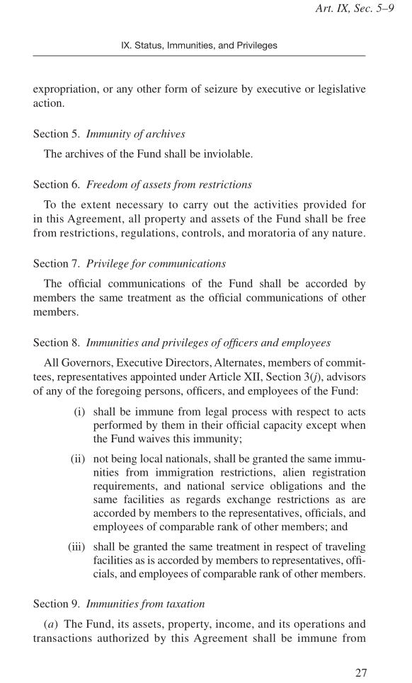 P27 Imf Articles Of Agreement Covert Geopolitics