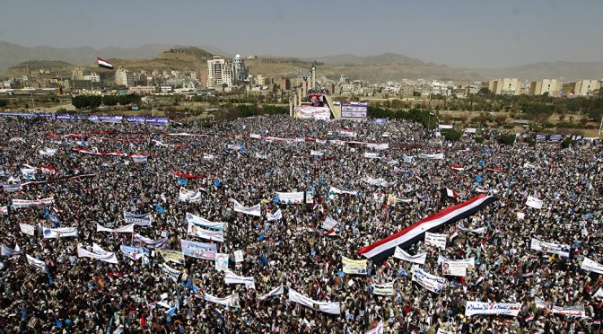 Close to Million Yemenis Protest Saudi Terror